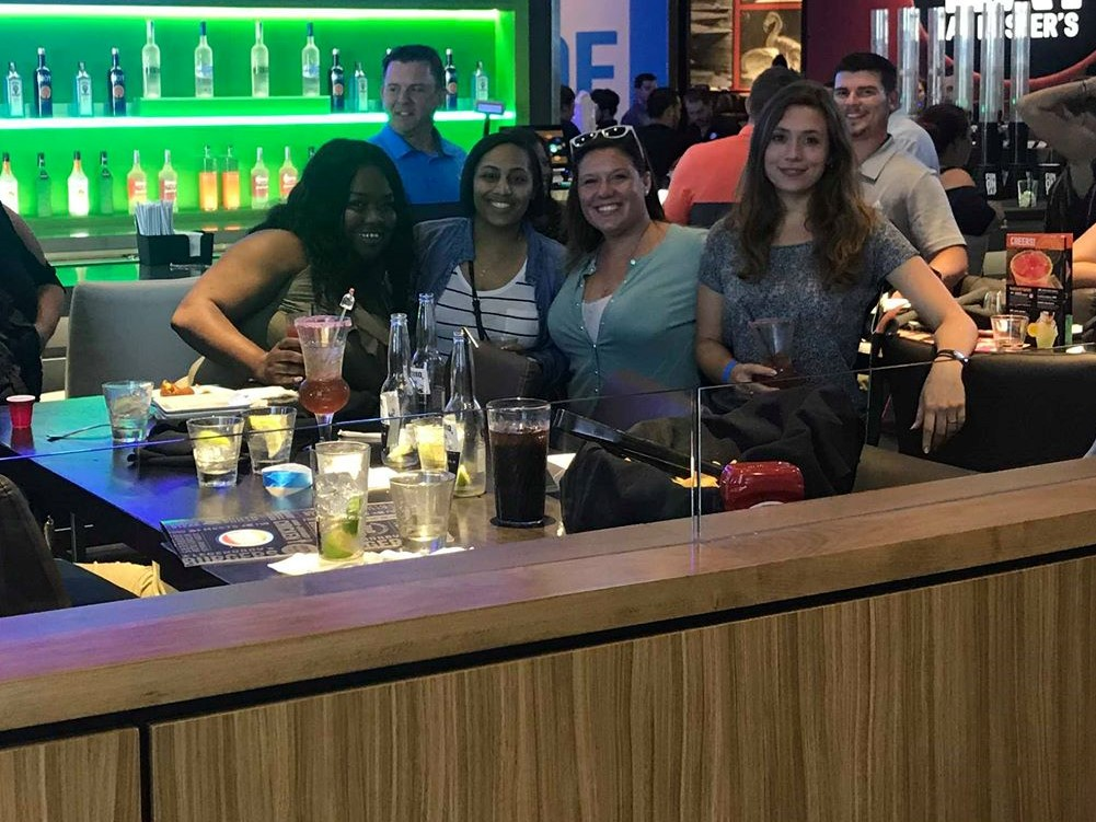 ReedTMS Employees at a happy hour
