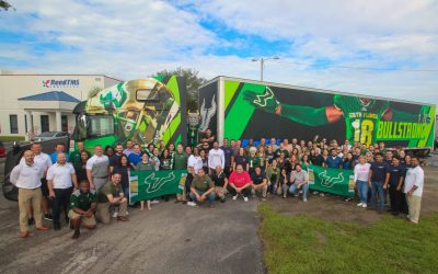 A Florida trucking company gets ready to haul the needs of three college football teams