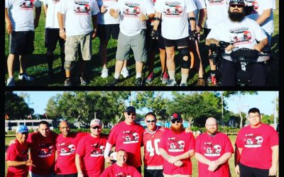 Veteran's Day football match with The Mike Alstott Foundation